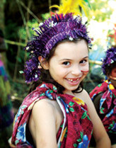 Young girl experiencing the culture of Vanuatu